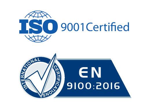 Logos ISO9001 et EN9100